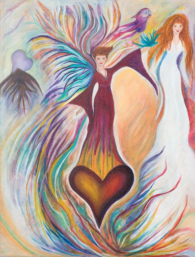 Heart Painting - Heart Goddess by Leti C Stiles