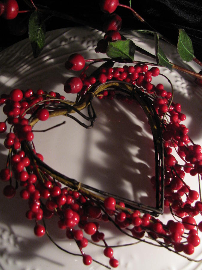 Berries Photograph - Heart In Shadow by Lindie Racz