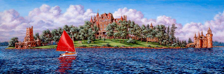 Castle Painting - Heart Island by Richard De Wolfe