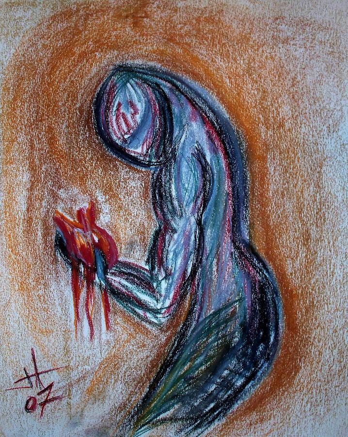 Shape Drawing - Heart by Jennifer Addington