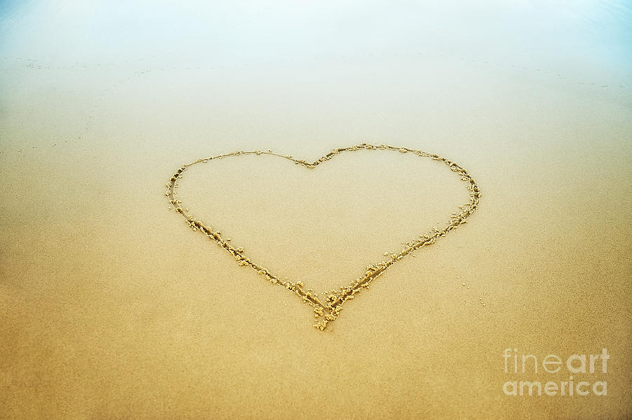 Beach Photograph - Heart by John Greim