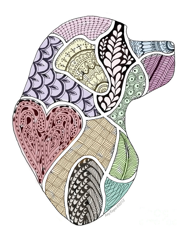 Heart Labrador Doggie Doodle by Amy Reges