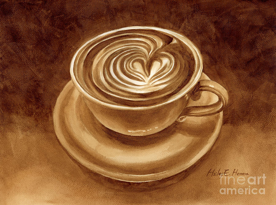 Painting Painting - Heart Latte by Hailey E Herrera