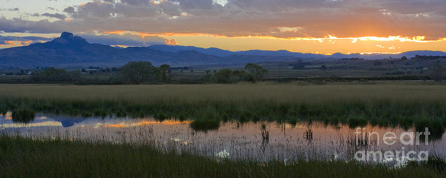 Canal Photograph - Heart Mountain Sunset by Idaho Scenic Images Linda Lantzy