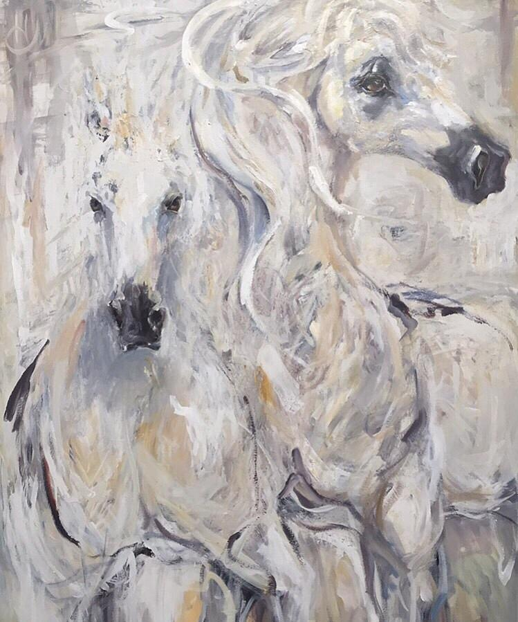 Horse Painting - Heart N Soul by Heather Roddy