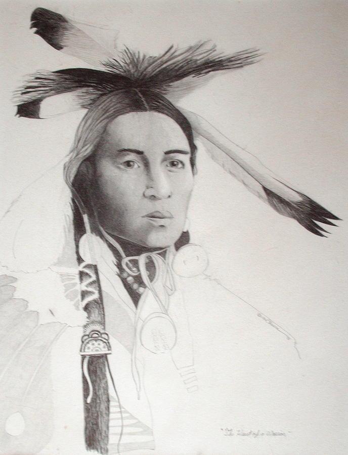 Pencil Drawing - Heart Of A Warrior by Brian Edward Harris
