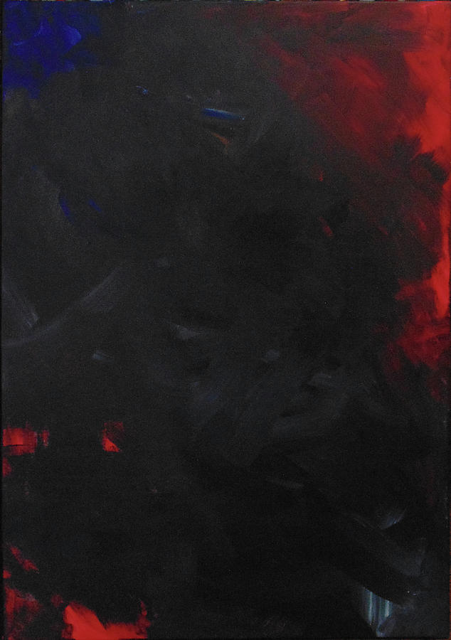 Abstract Red Painting - Heart of Darkness by Susan Moore