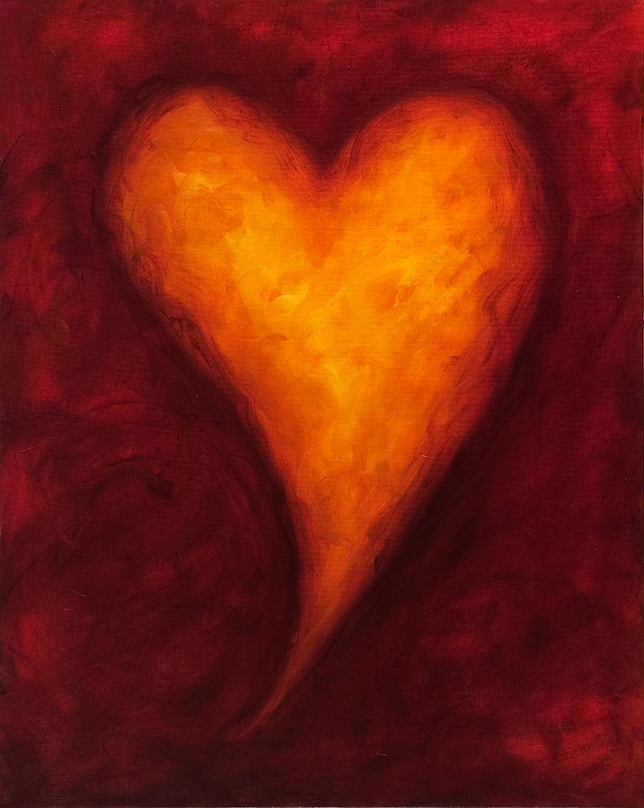Heart Painting - Heart Of Gold 2 by Shannon Grissom