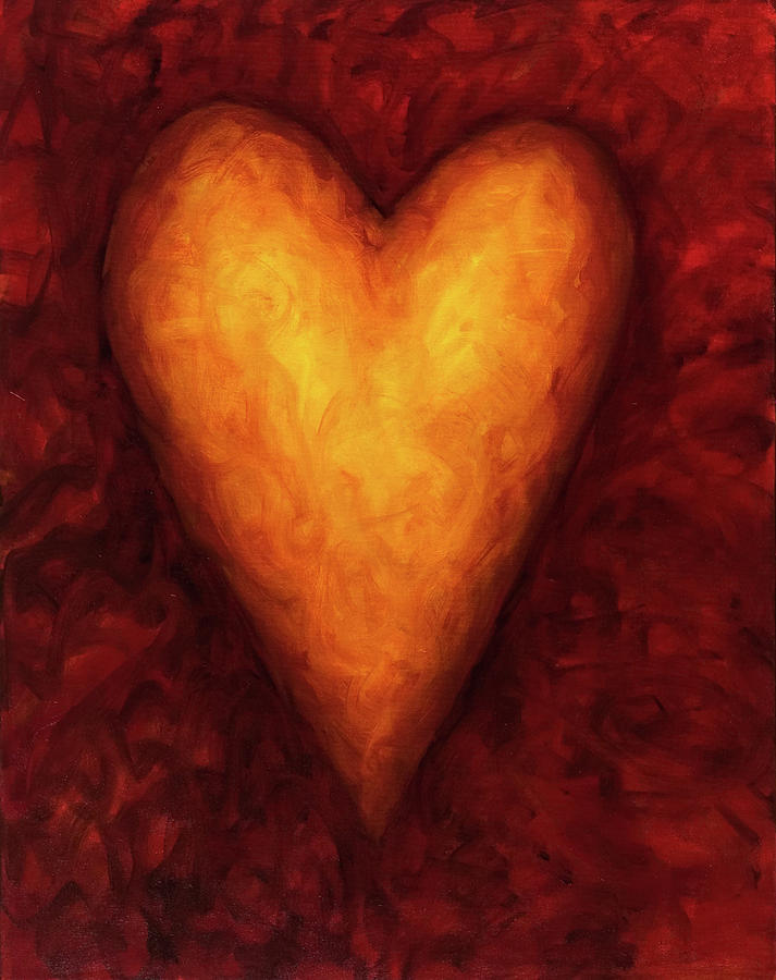 Heart Of Gold 3 Painting