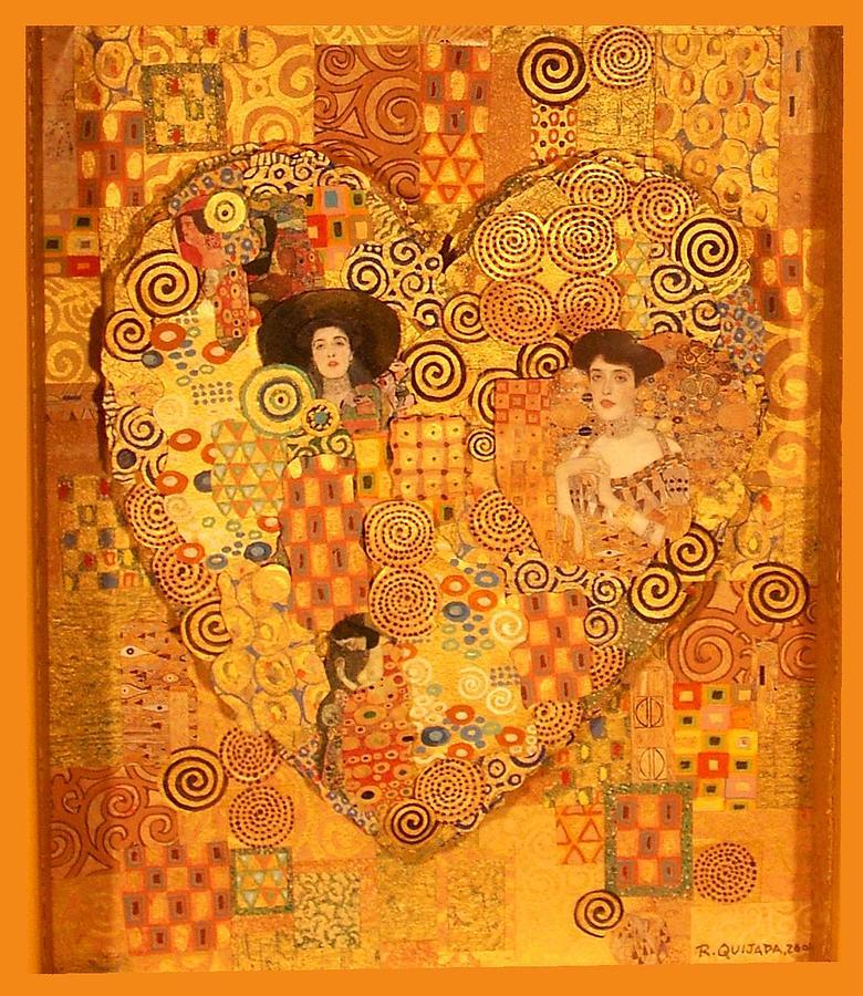 Icons Painting - Heart of Gustav Klimt by Robert Quijada