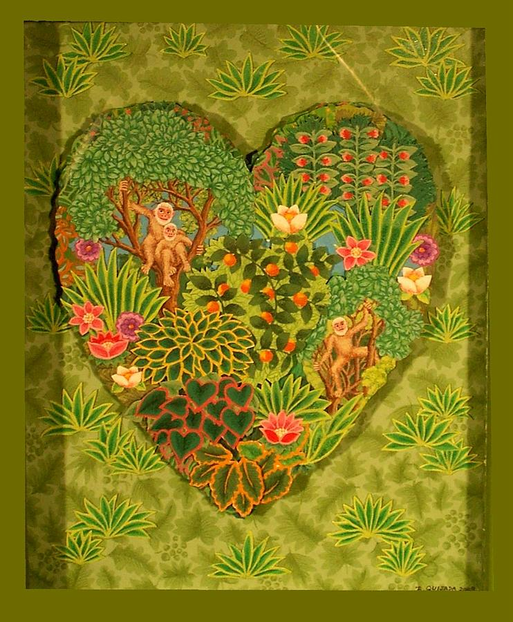 Icons Painting - Heart of Henri Rousseau by Robert Quijada