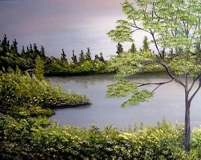 Heart Of Nature Painting by Nadine  Estes