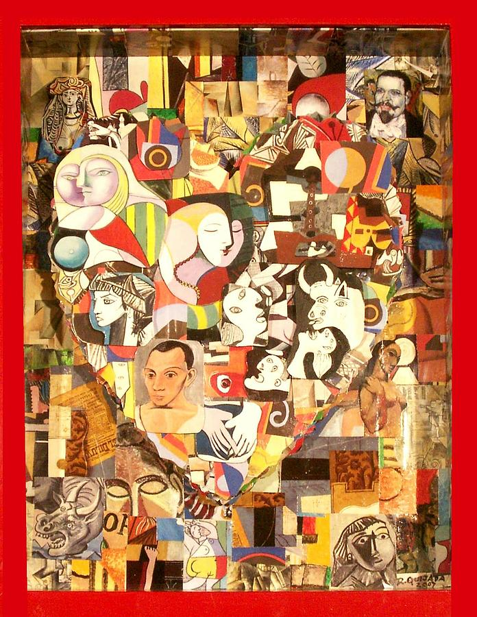 Icons Painting - Heart of Pablo Picasso by Robert Quijada