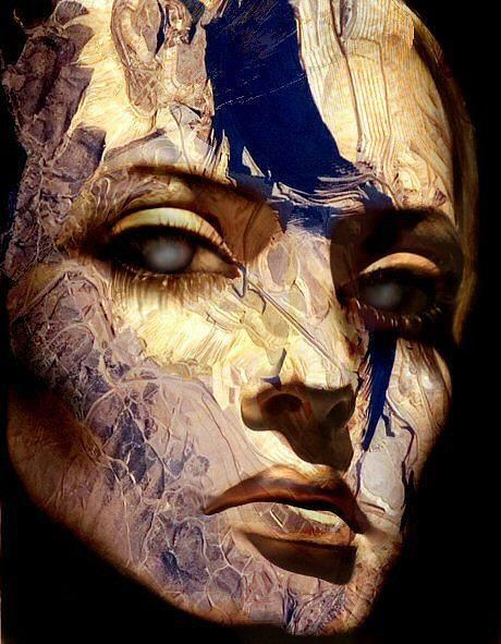 Face Digital Art - Heart Of Stone by Day Seriani