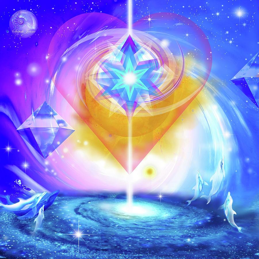 Divinity Mixed Media - Heart Of The Galaxy by Sibli Sarah Jeane