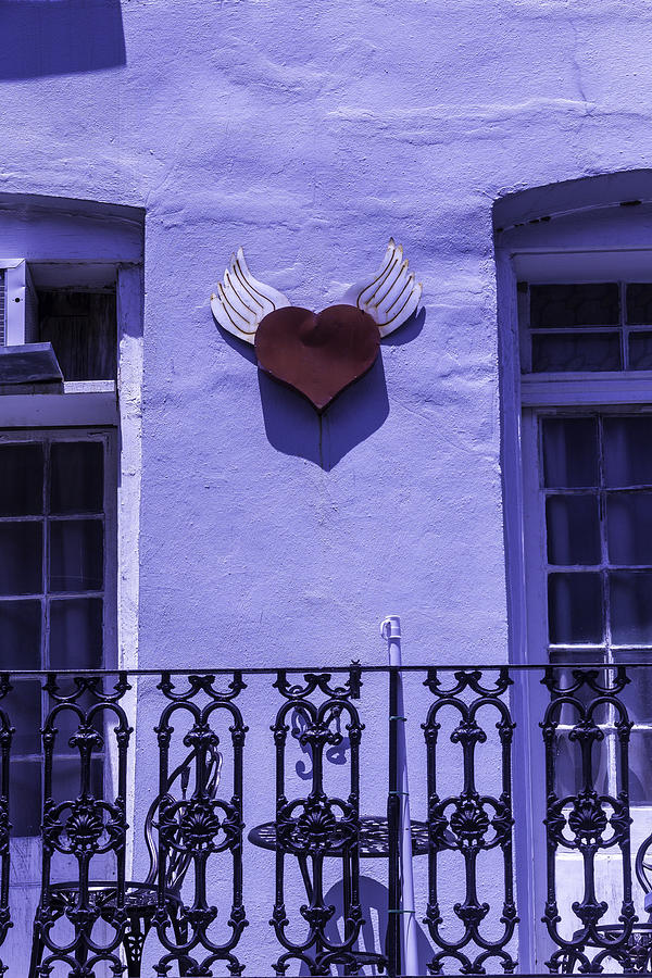 Heart Photograph - Heart On Wall by Garry Gay