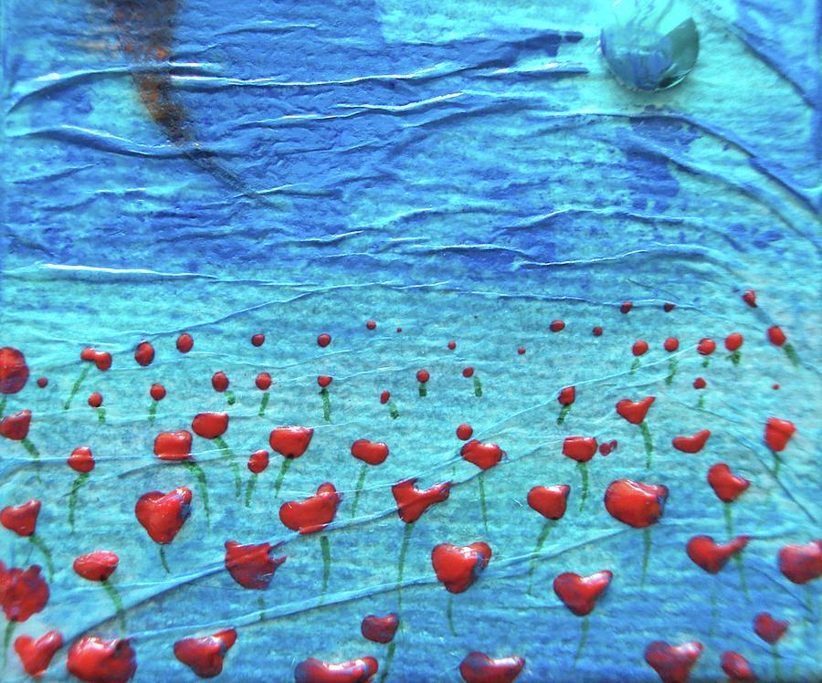 Poppies Mixed Media - Heart Poppies by Shawna Scarpitti