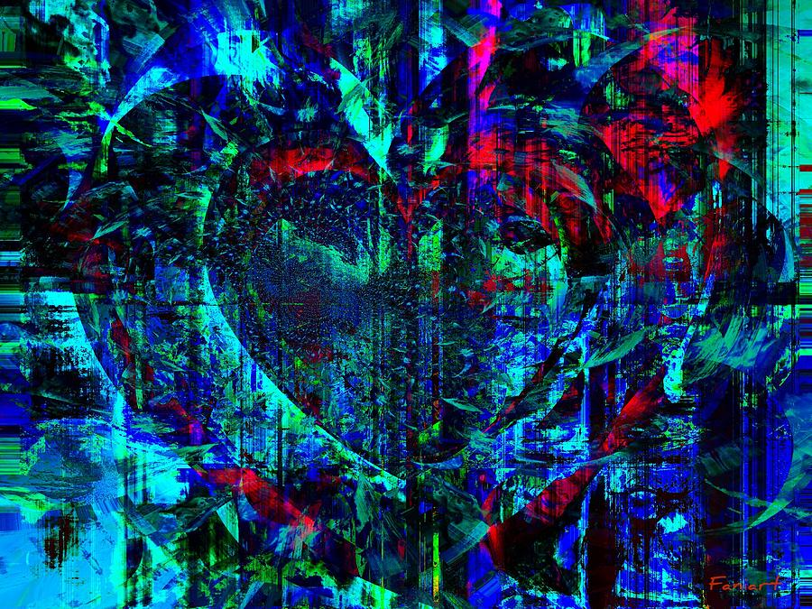 Fania Simon Painting - Heart Potential by Fania Simon