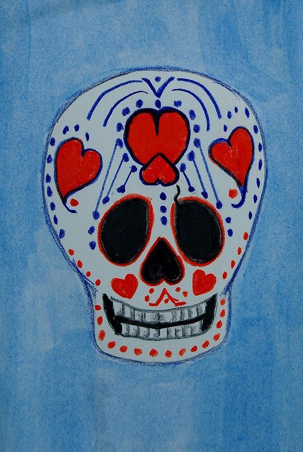 Hearts Mixed Media - Heart Skull by Charla Van Vlack