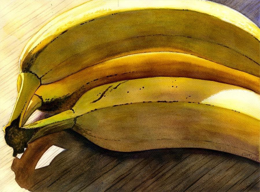 Bananas Painting - Heart Smart by Catherine G McElroy