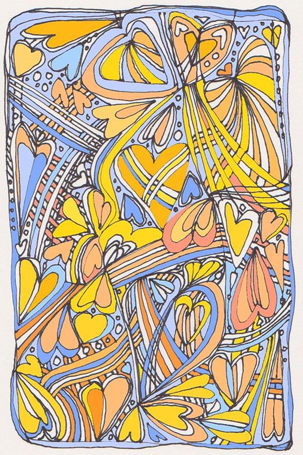 Heart Strings Drawing - Heart Strings by Linda Kay Thomas