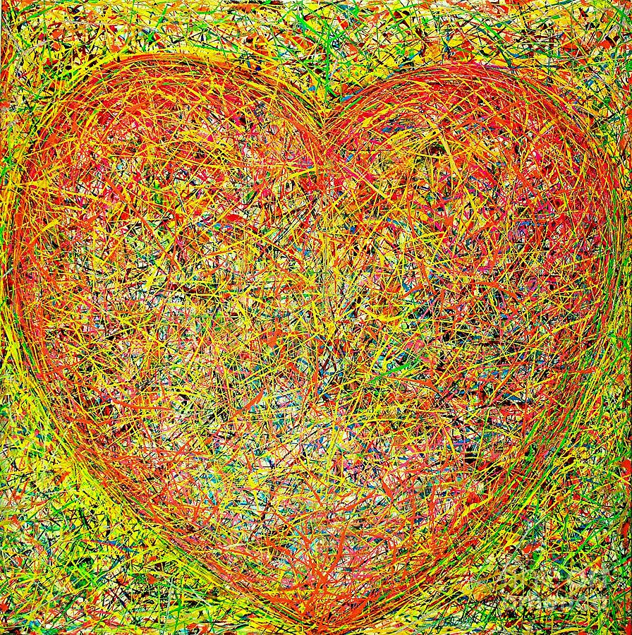 Heart Painting by Teo Santa