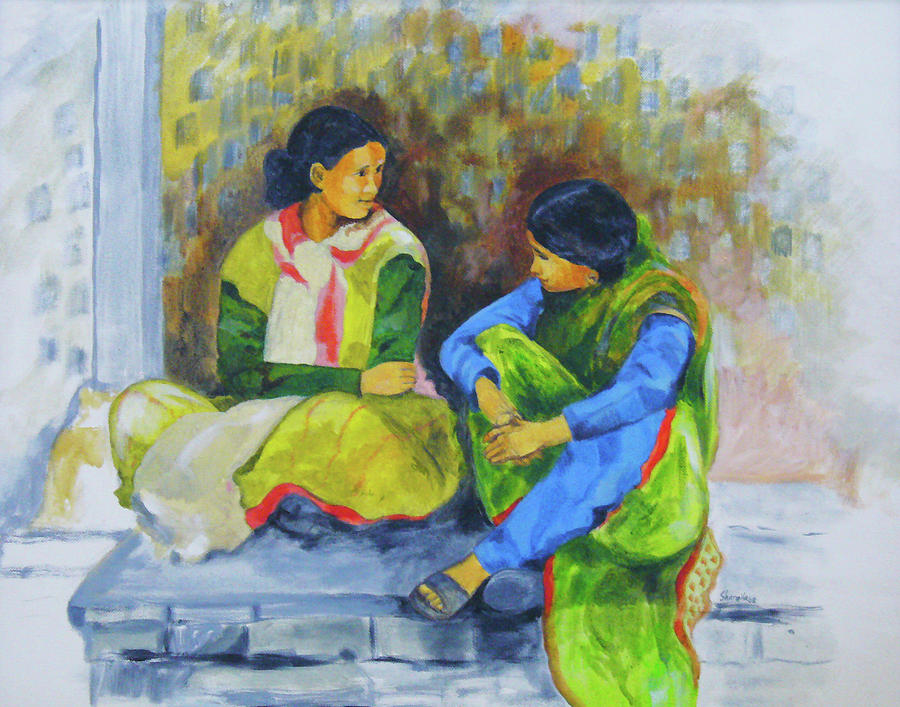 Heart-to-heart Painting - Heart-to-heart by Sharmila L