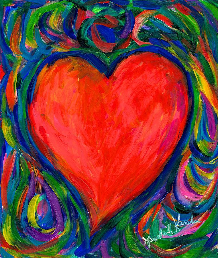 Heart Painting - Heart Twirl by Kendall Kessler