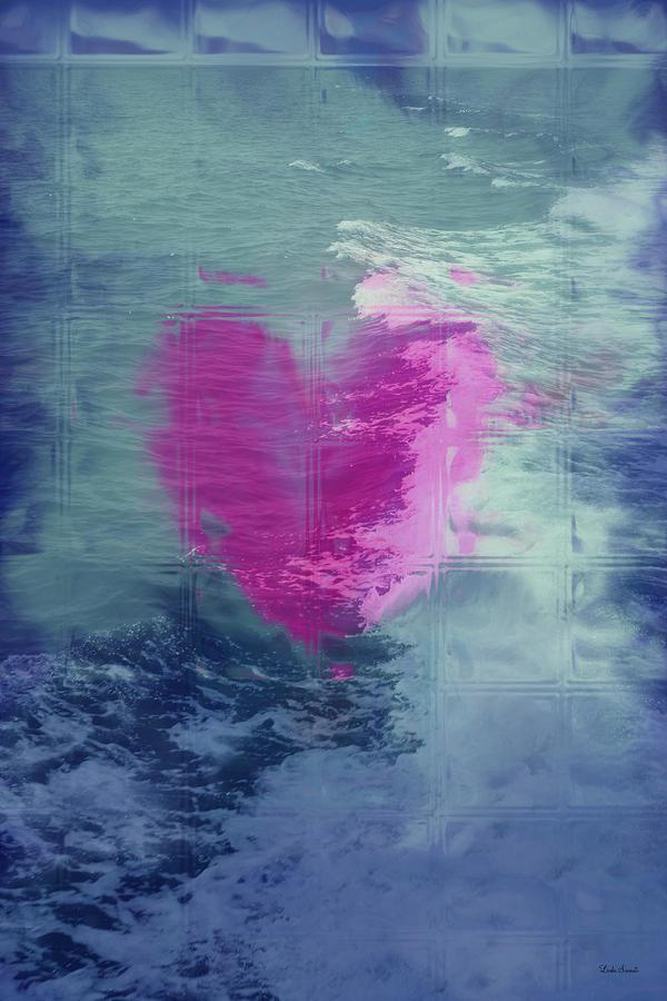 Hearts Digital Art - Heart Waves by Linda Sannuti