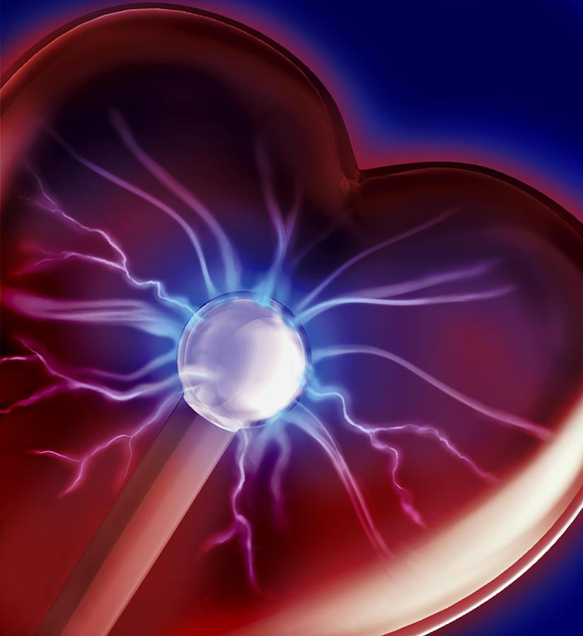 Blue Digital Art - Heartbeat by Sandy Ostroff
