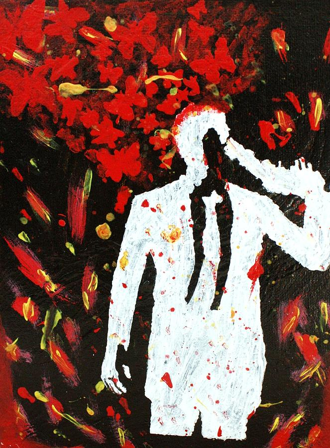Abstract Painting - Heartbreak  by April Harker