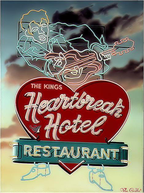 Sign Painting - Heartbreak Hotel by Van Cordle