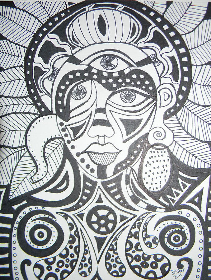 Abstract Drawings Drawing - Heartfelt by Dawn Siler