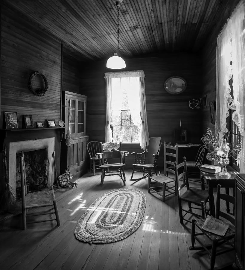 Wood Photograph - Hearthside Gathering by Lynn Palmer