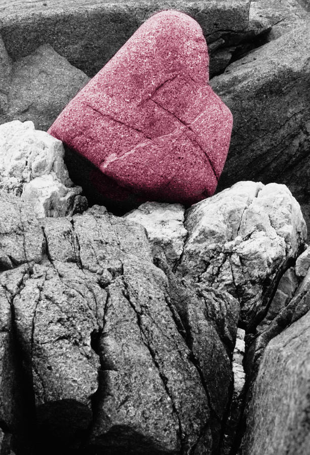 Rocks Photograph - Heartrock by Keith Campagna