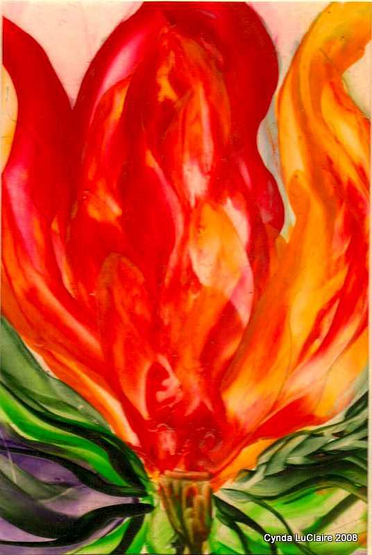 Hearts Painting - Hearts A by Cynda LuClaire