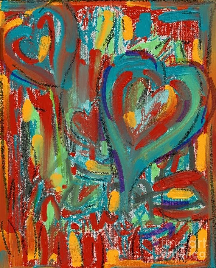 Hearts abstract #2 by Jeanie Watson