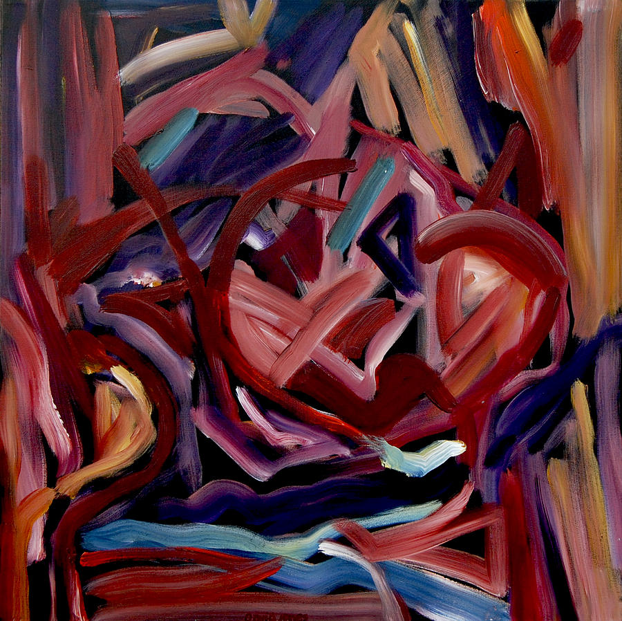 David Jones Painting - Hearts And Flowers by Dave Jones