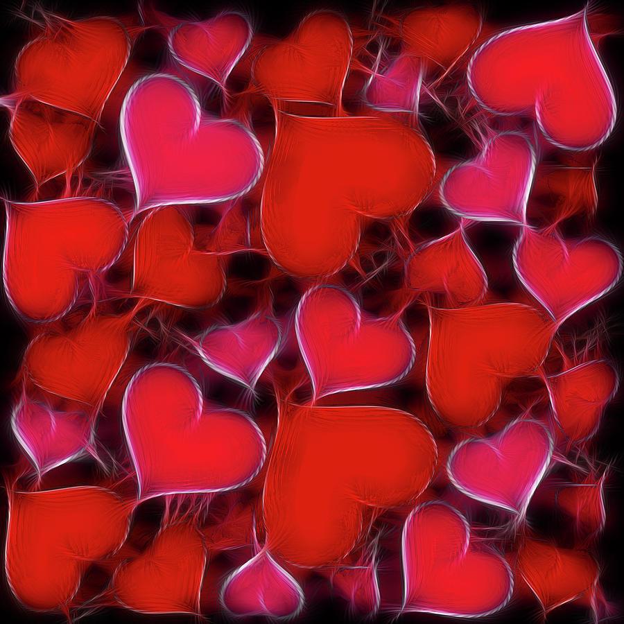 Hearts Collage Digital Art
