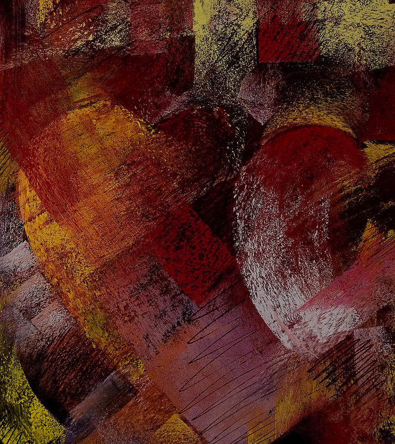 Hearts Painting - Hearts by David Patterson