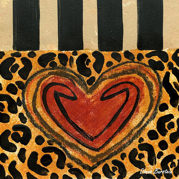 Heart Painting - Hearts Desire by Donna Burstein