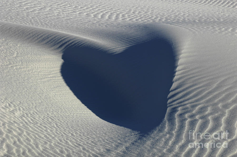 Heart Photograph - Hearts In The Desert by Vivian Christopher