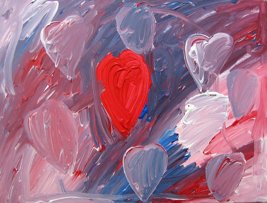 Hearts Painting - Hearts by Kiely Holden