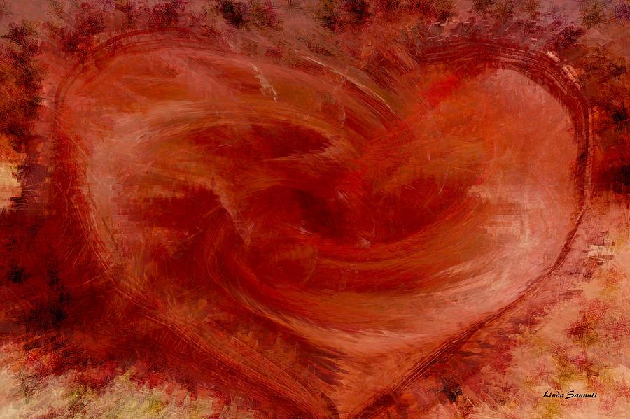Hearts Digital Art - Hearts Of Fire by Linda Sannuti