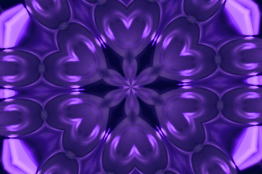Landscape Photograph - Hearts Of Purple Kaleidoscope by Morgan Carter
