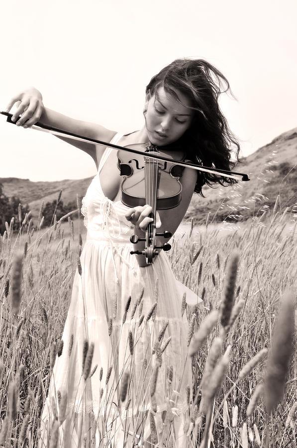 Girl Photograph - Heartstrings by Curt Johnson