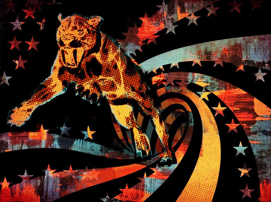 Big Cat Mixed Media - Heat Beast by Surj LA