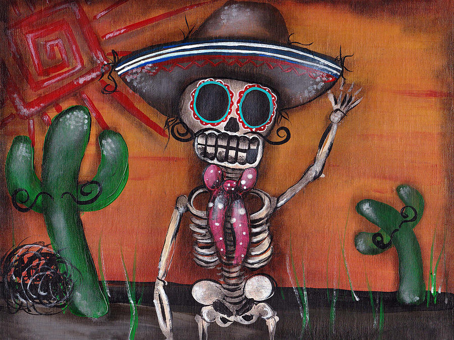Day Of The Dead  Painting - Heat Wave by  Abril Andrade Griffith