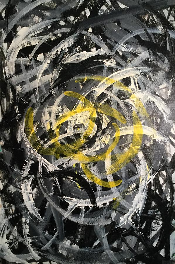 Acrylic Painting Painting - Helter Skelter by Mike King