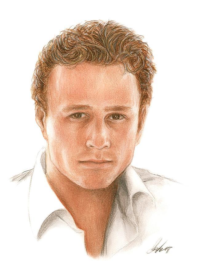 Heath Ledger Drawing - Heath by Bruce Lennon